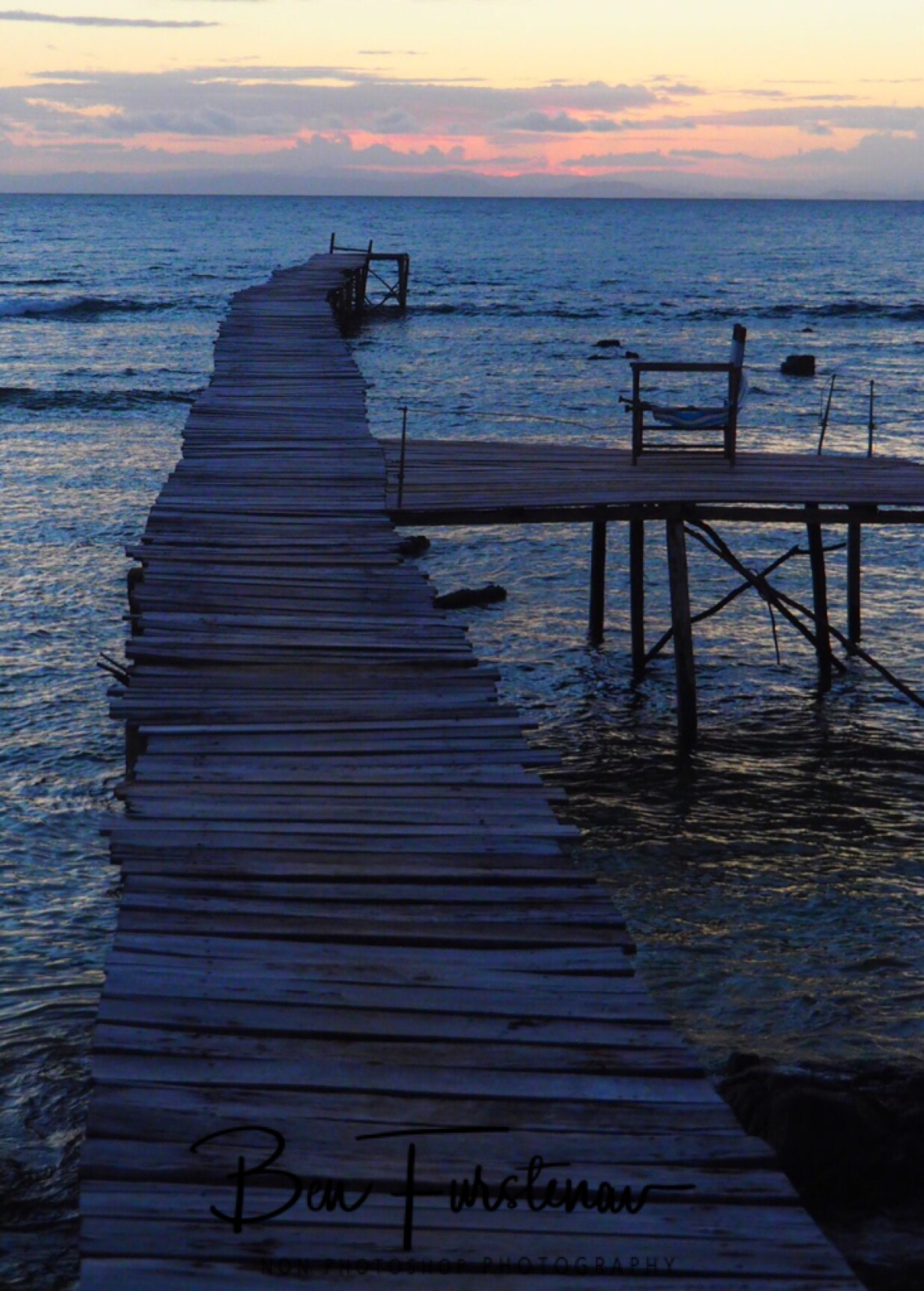 Jetty and chair