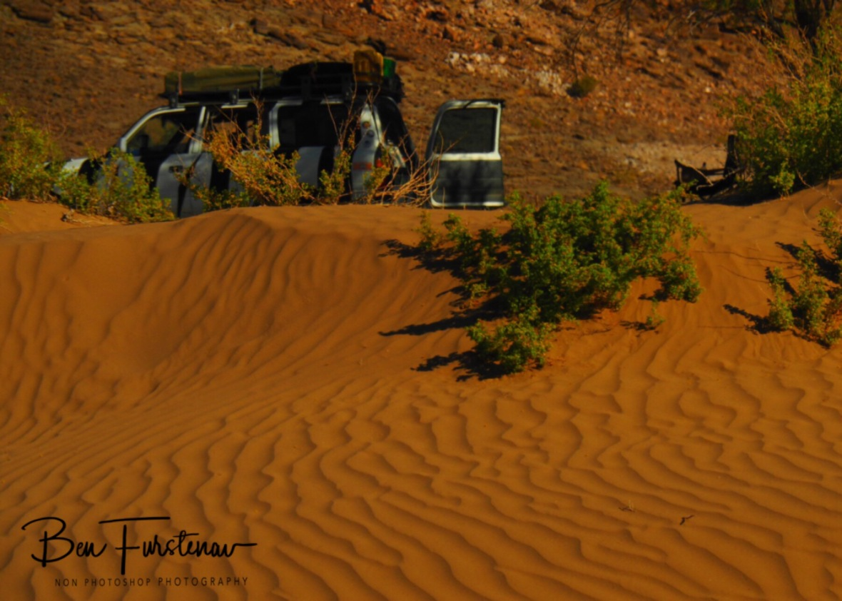 Sandy camp spot along the Oranje River