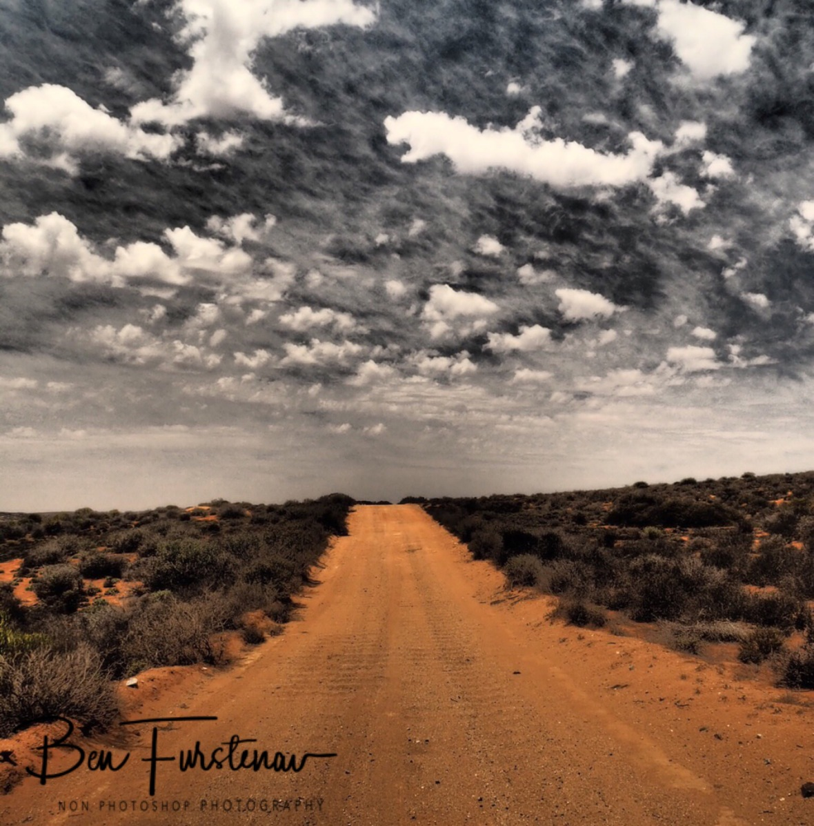 Fairy floss clouds over dry land, Namaqua National Park