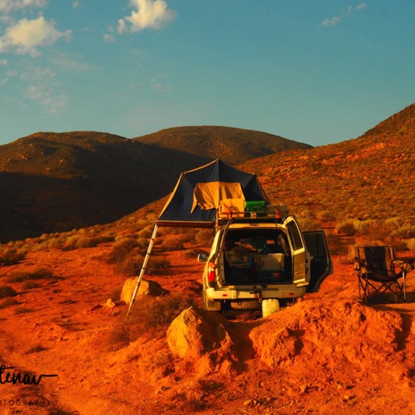Camping at the foothills of Springbok