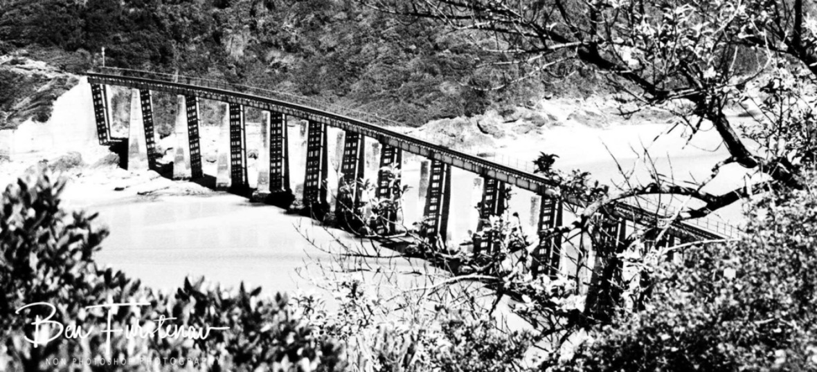Train bridge over swart river at Wilderness