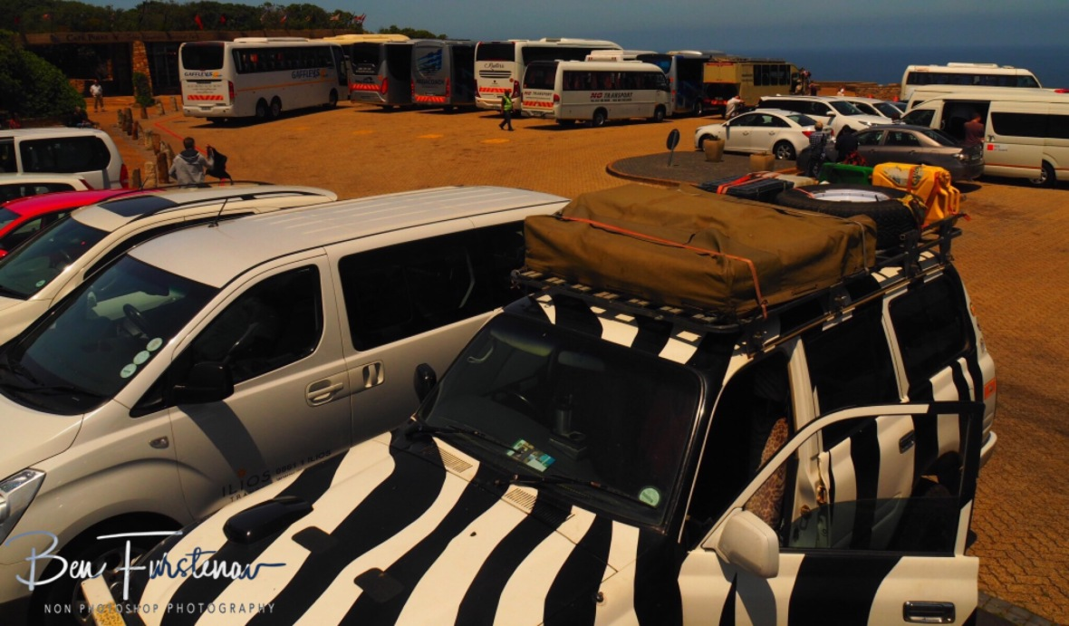Busy,busy carpark, Cape of good hope
