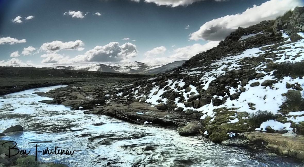 Snow melt, Lesotho