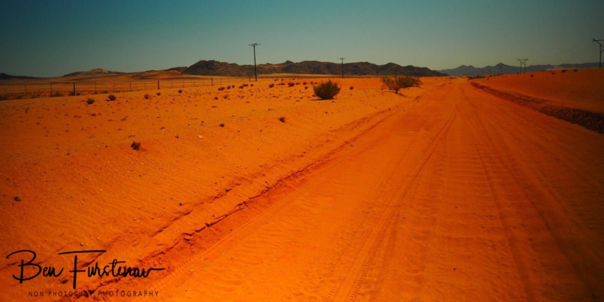 Red desert track, Northern Cape