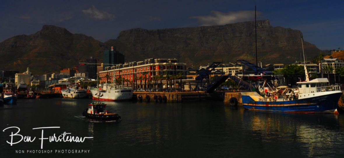 Overlooking Table Mountain from the waterfront