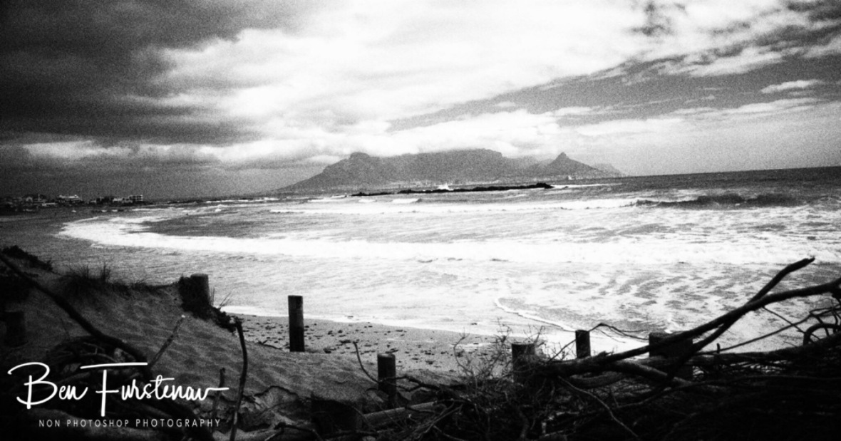 Black and white image over the bay, Cape Town