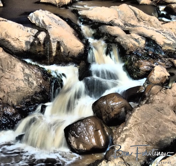 Rocks and water blended in