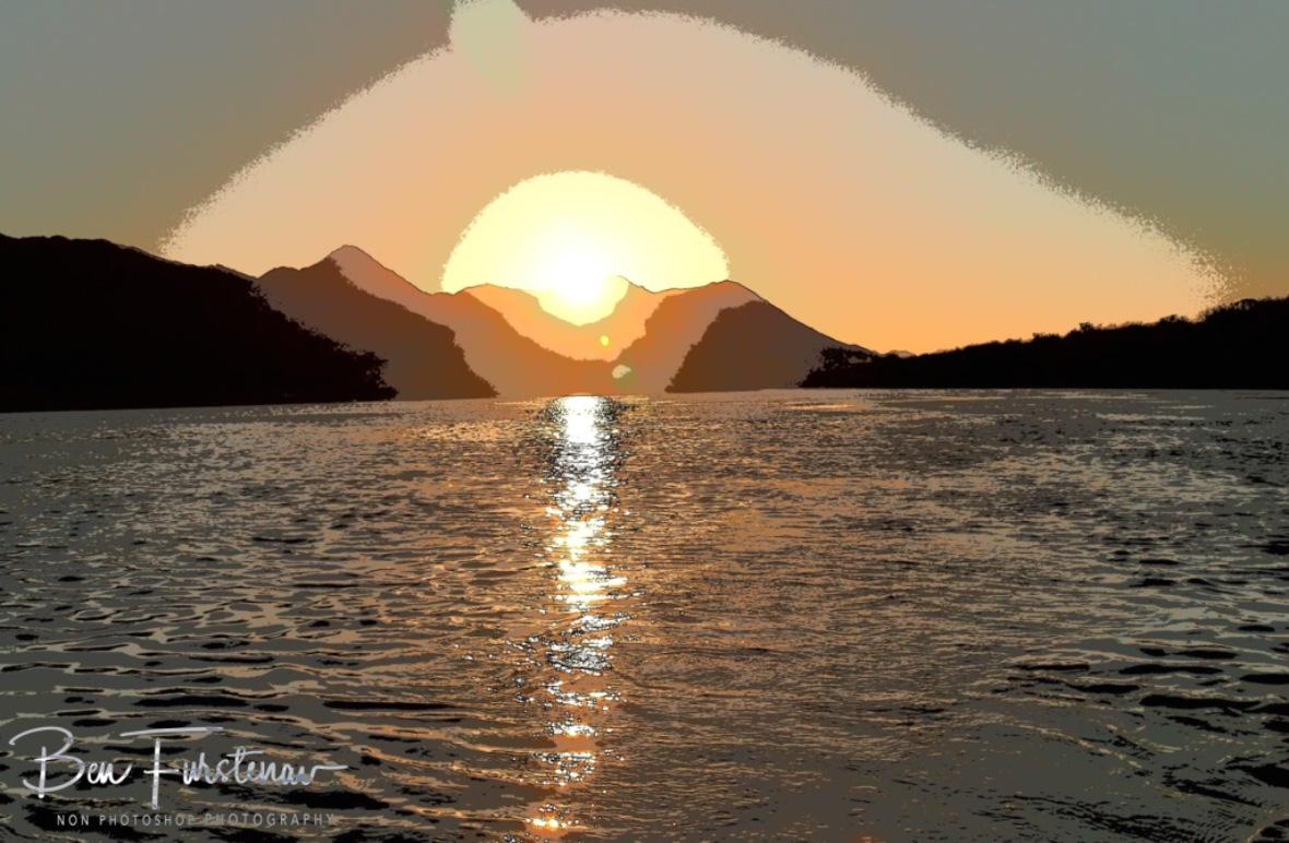 Windy sunset, Oranje River