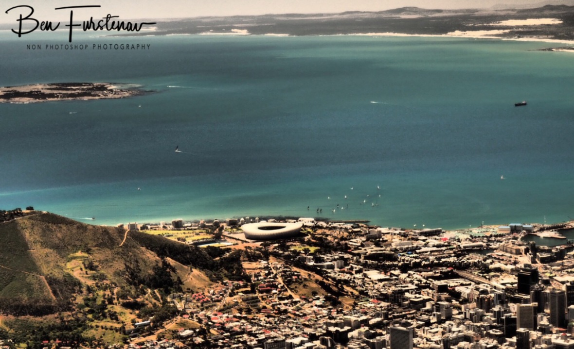 The view over the Cape Town and the bay