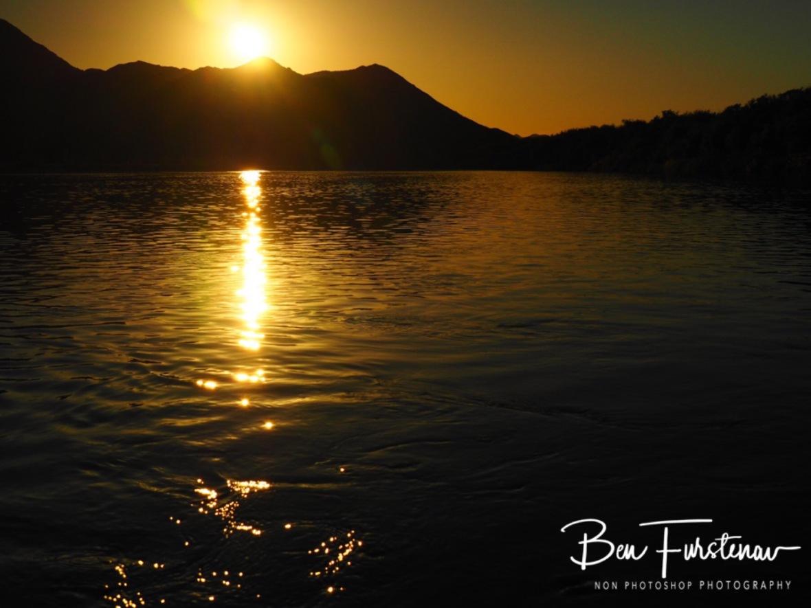 Golden sunset over Orange river