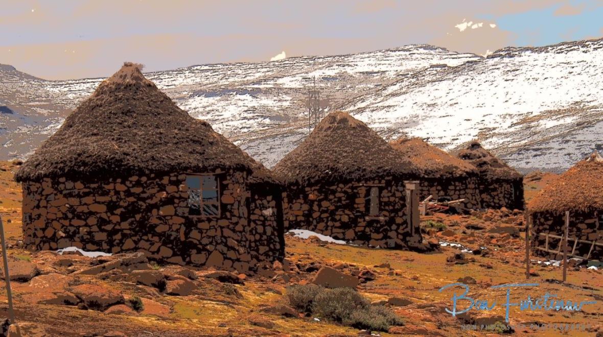 Local huts, Lesotho