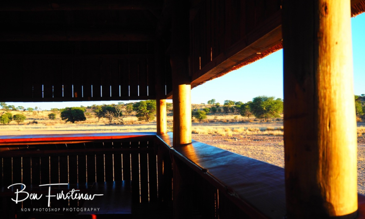 A view through the Hyde over everlasting desert plains, Kgalagadi Transfrontier Park