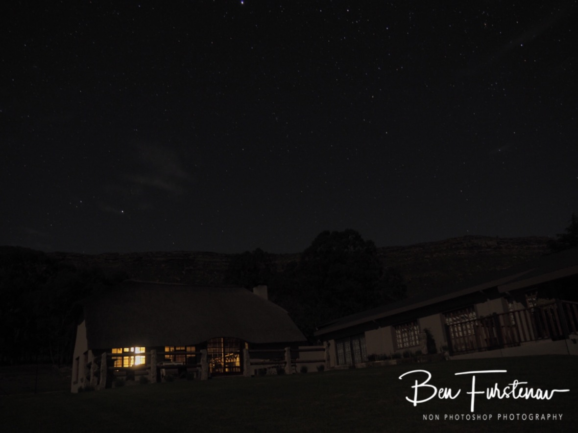 Clear skies over the farm, bright stars shining, Maarmanshoek, Free State