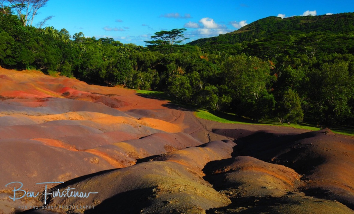 The toxic and colourful landscape at 7 coloured earth.