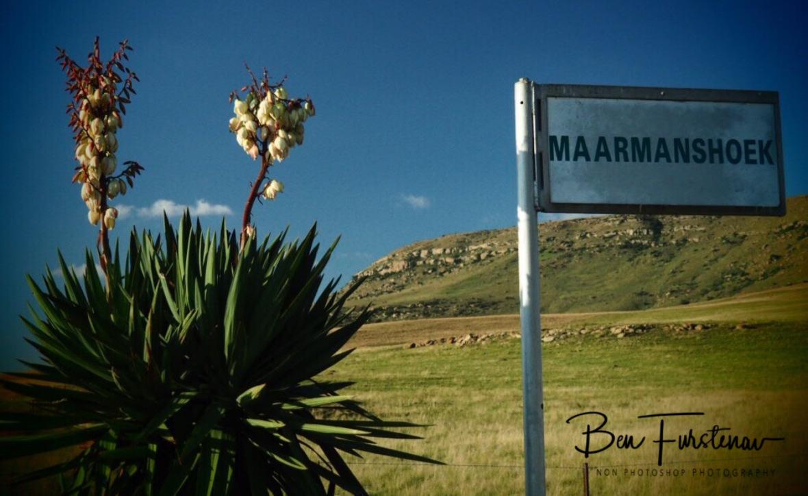 The turn off to the farm, Maarmanshoek