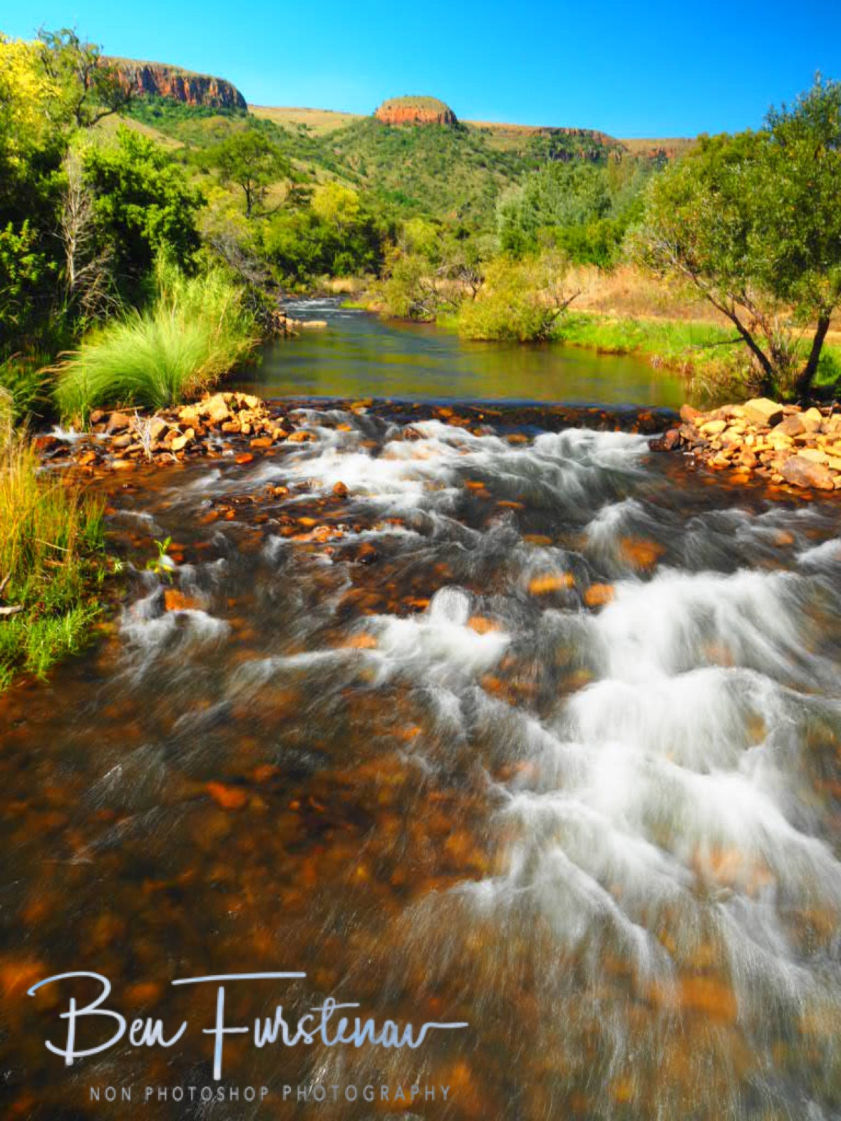 Clear freezing waters rushing to The Valley, Mpumalanga