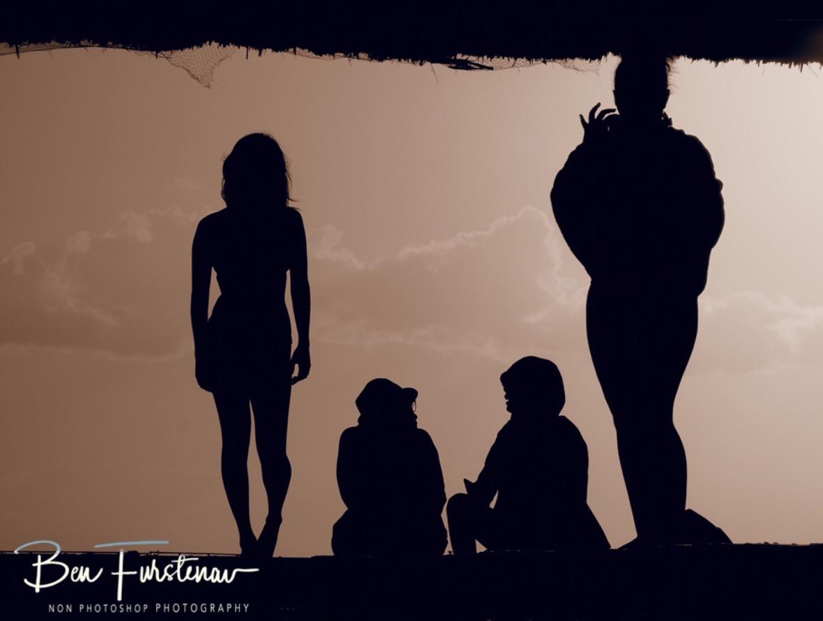 Human shadow theatre, Flic en Flac, Mauritius