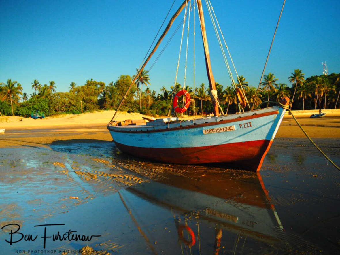 Colourful dhow reflections, Inhaca Island