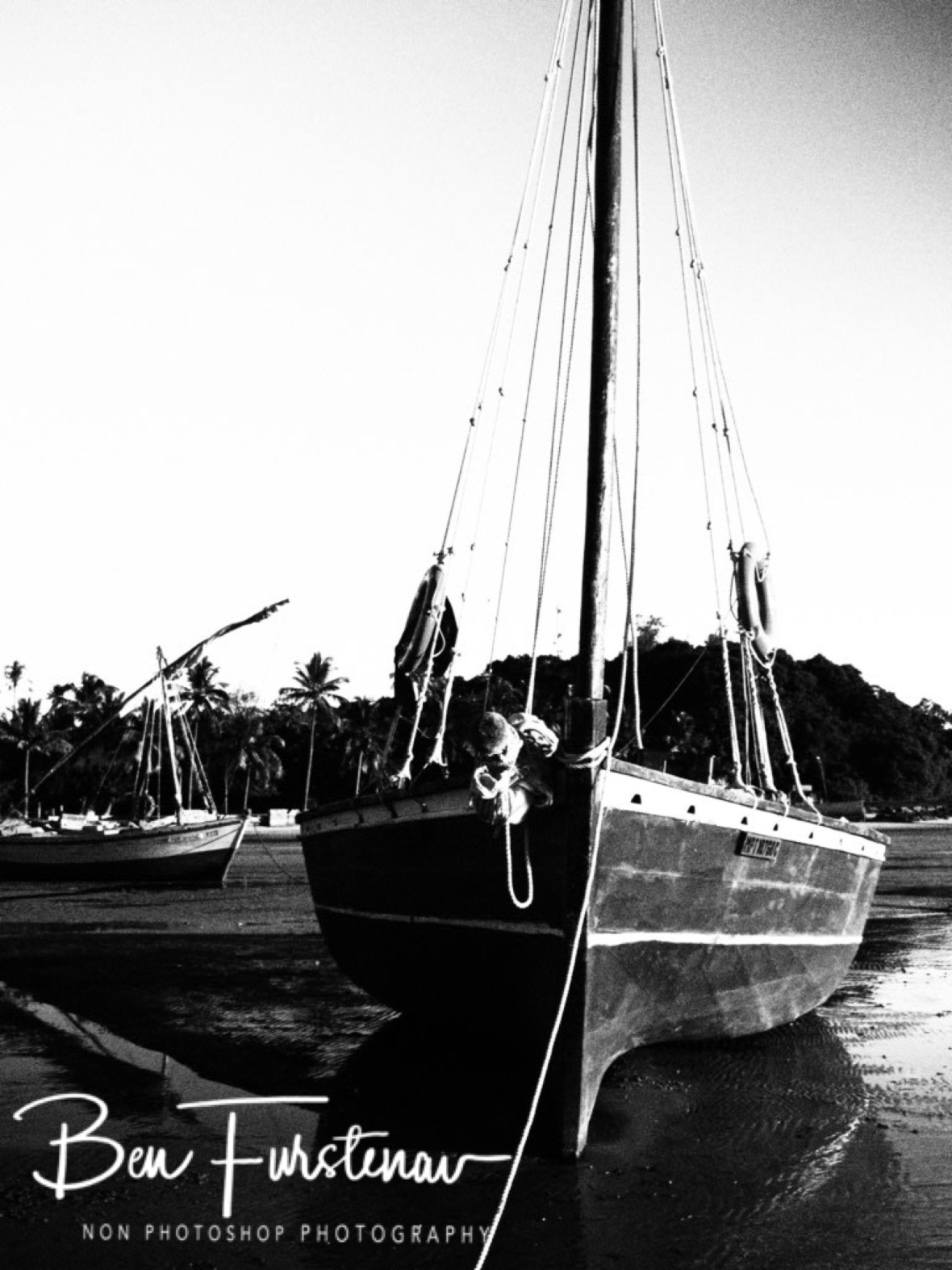 Dhow in Black and White, Inhaca Island