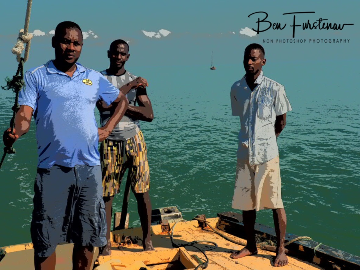 The fishing crew, Dino, Fabian and Chaurelle, Santa Maria, Machangulo Peninsula