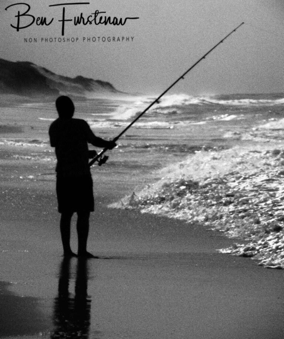 Surf fishing, Machangulo Peninsula