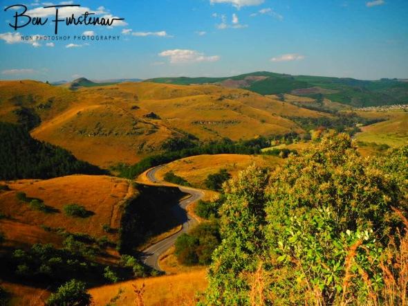 Scenic but treacherous road to Pilgrims Rest, Northern Drakenberg