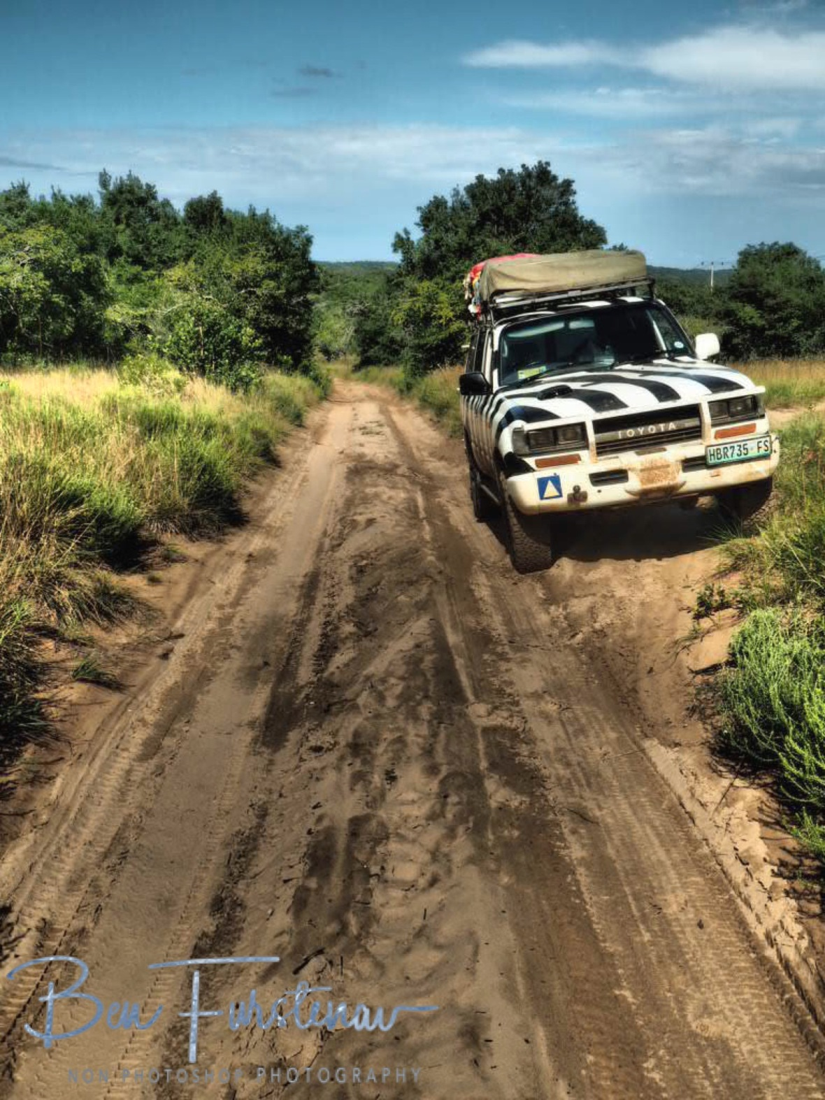Sand 4x4 tracks, enjoyed by both of us, Machangulo Peninsula