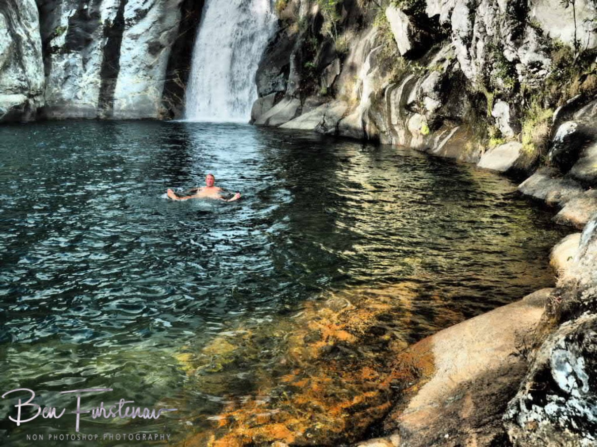 Refreshing dip at Mulanje Mountains, Malawi