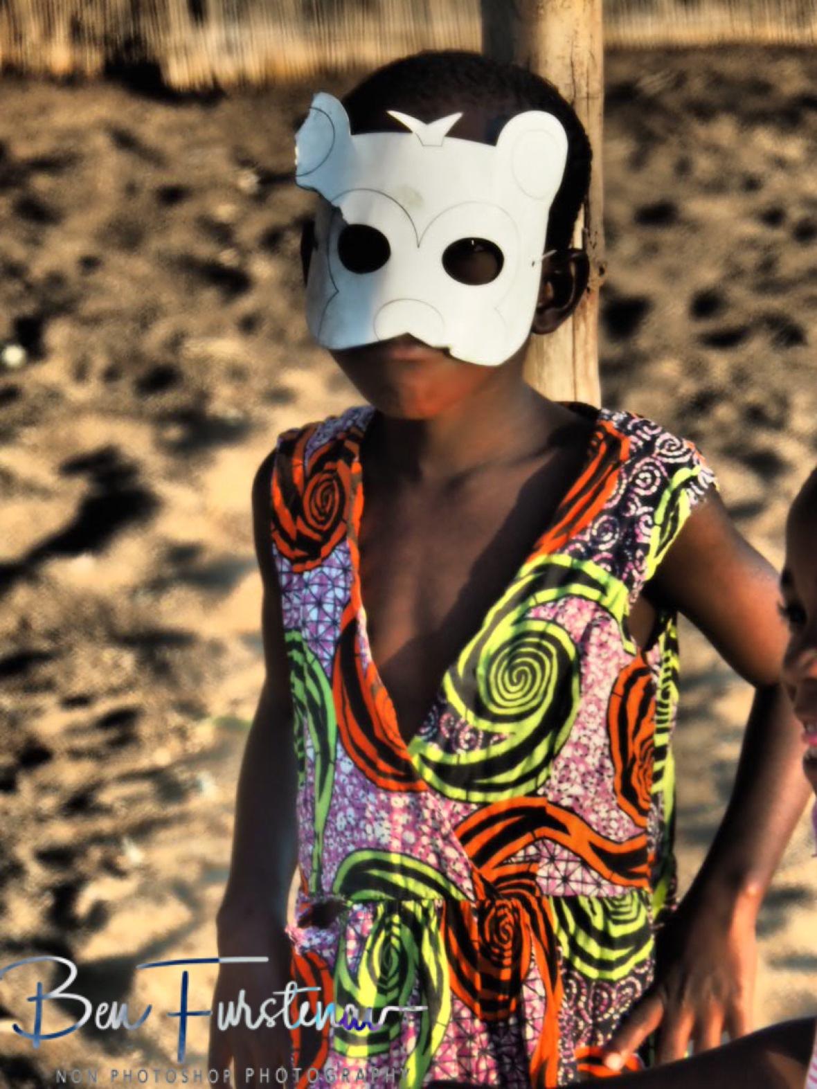 Masquerade in Chembe, Cape Maclear, Lake Malawi, Malawi