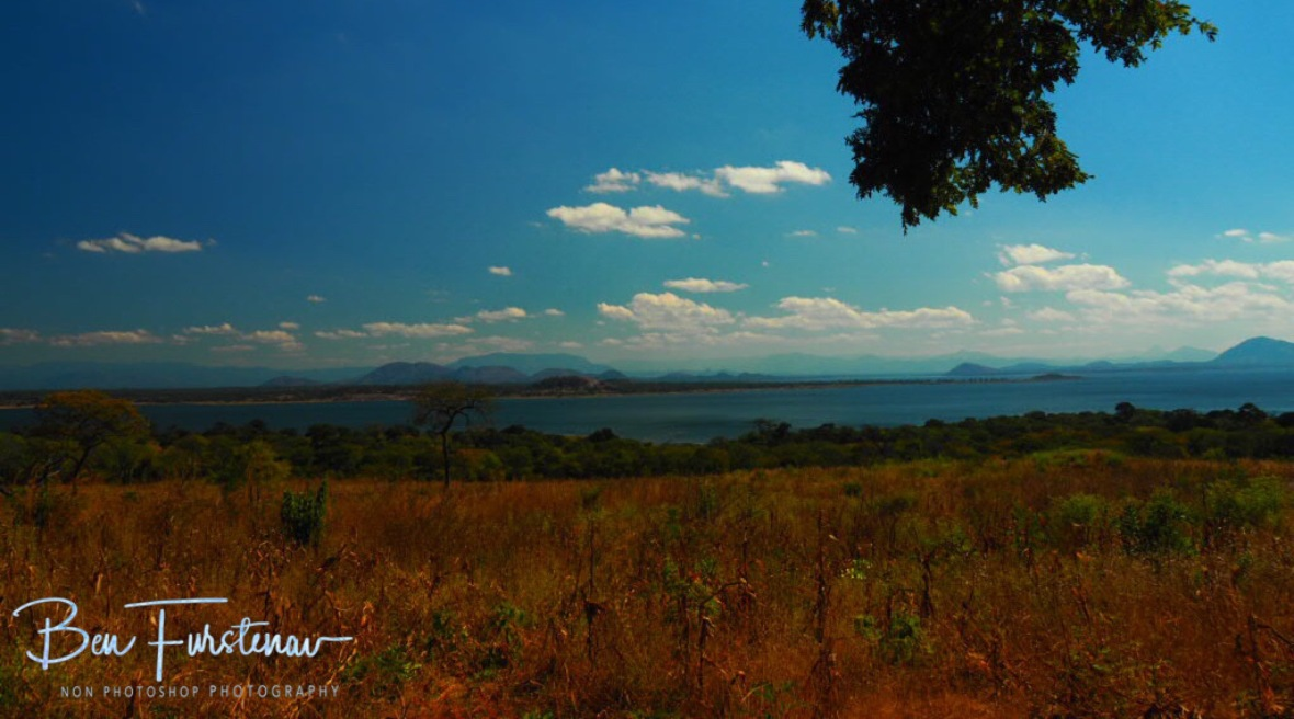 Looking from Lake Chicamba back to the Chimanimani Mountains, Mozambique