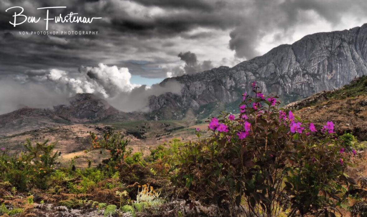 Clouds creeping on to Mt. Chambe, Mulanje Mountains, Malawi