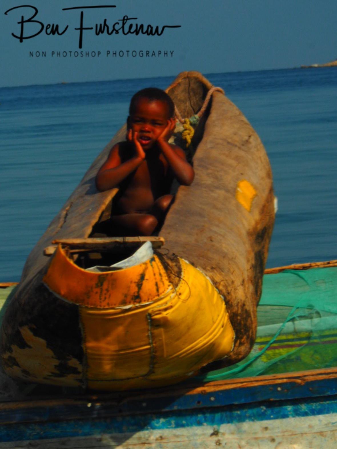Banana boat dry dock in Chembe, Cape Maclear, Lake Malawi, Malawi