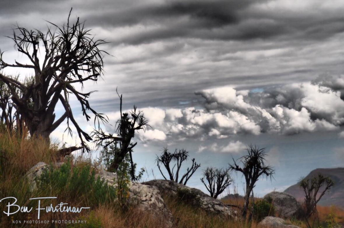 Dark clouds moving in over Mulanje Mountains, Malawi