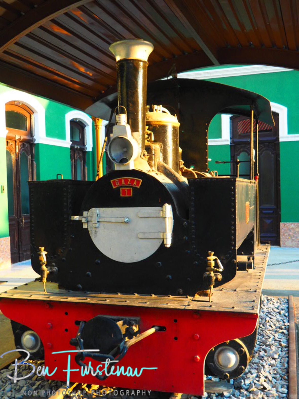 Small steamer, Maputo train station museum, Mozambique