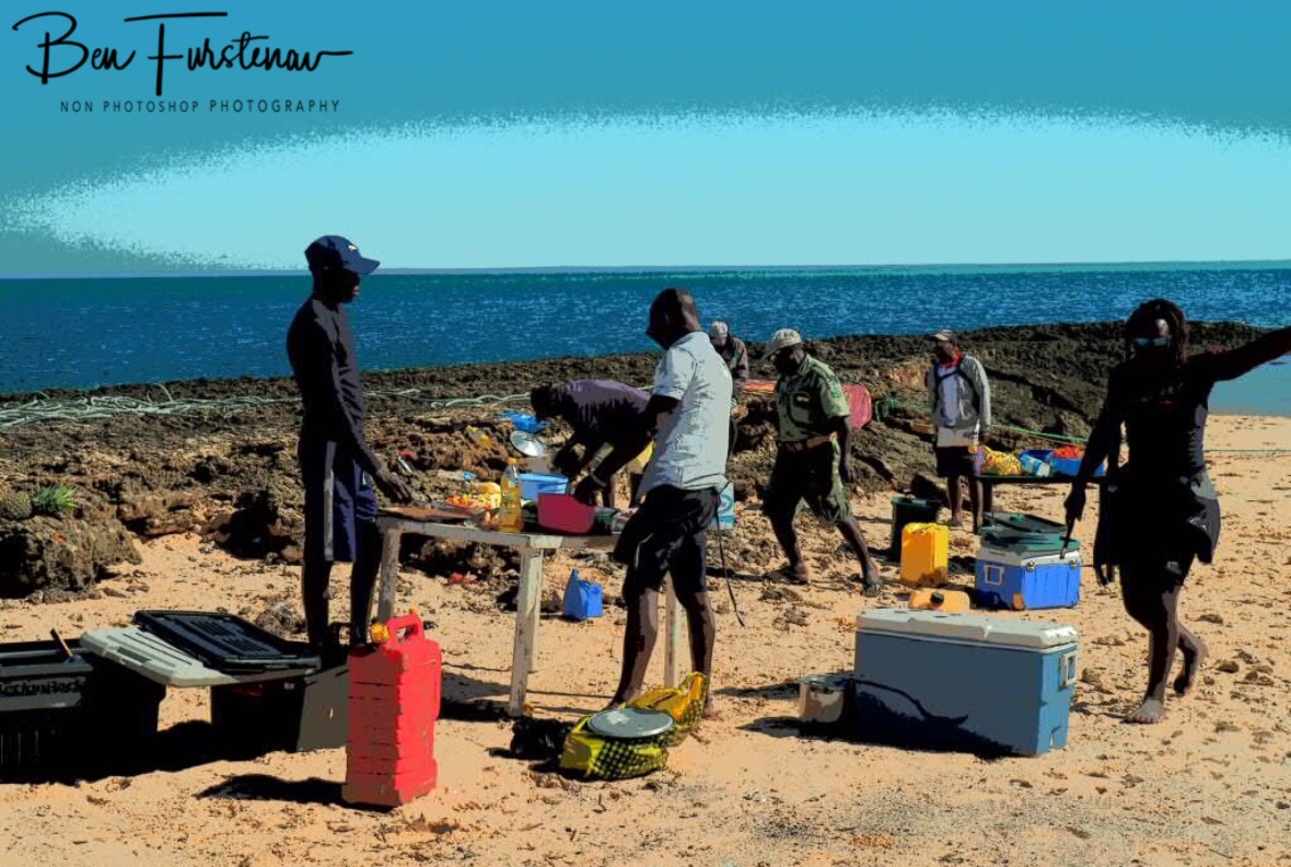 Lunch preparations, Bazaruto Island, Vilankulo