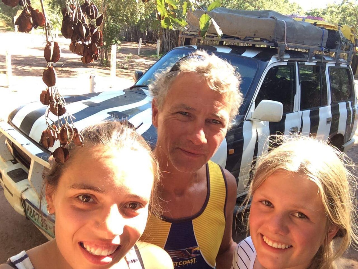 Truck stop selfie, Inchope, Mozambique
