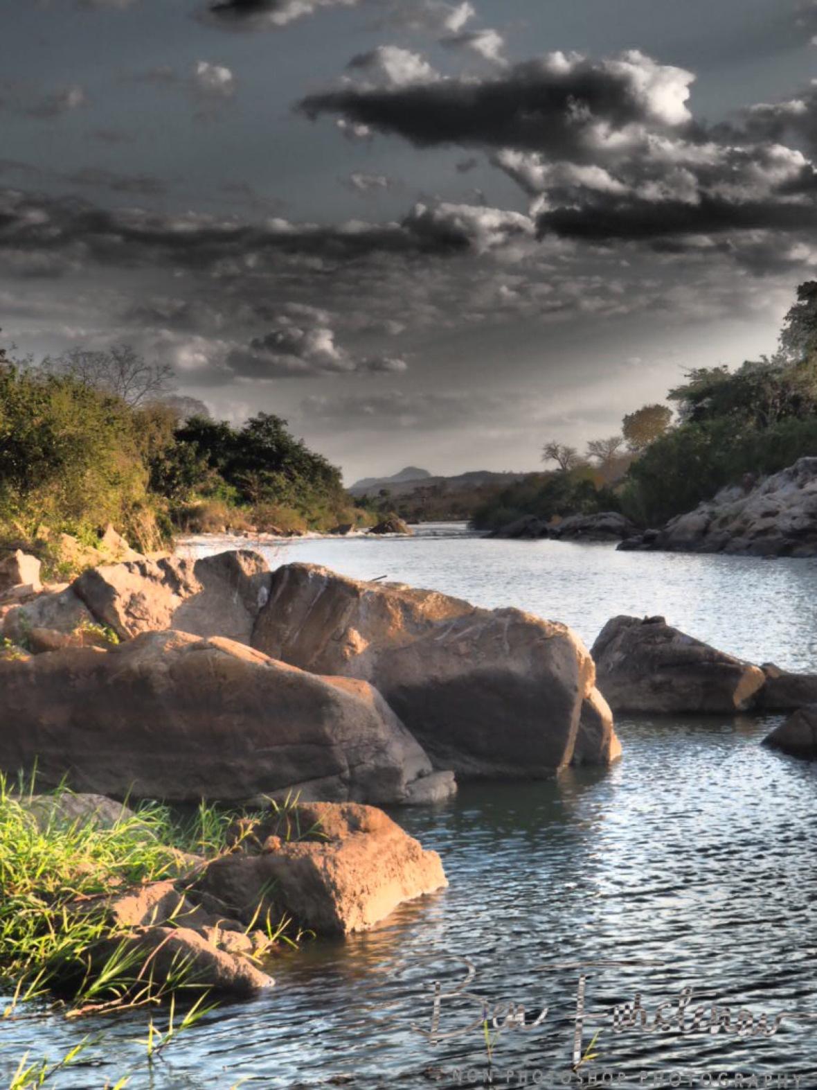 Tedzani waterfalls disappeared by hydro/ electro plant, Mwanza Region, Malawi