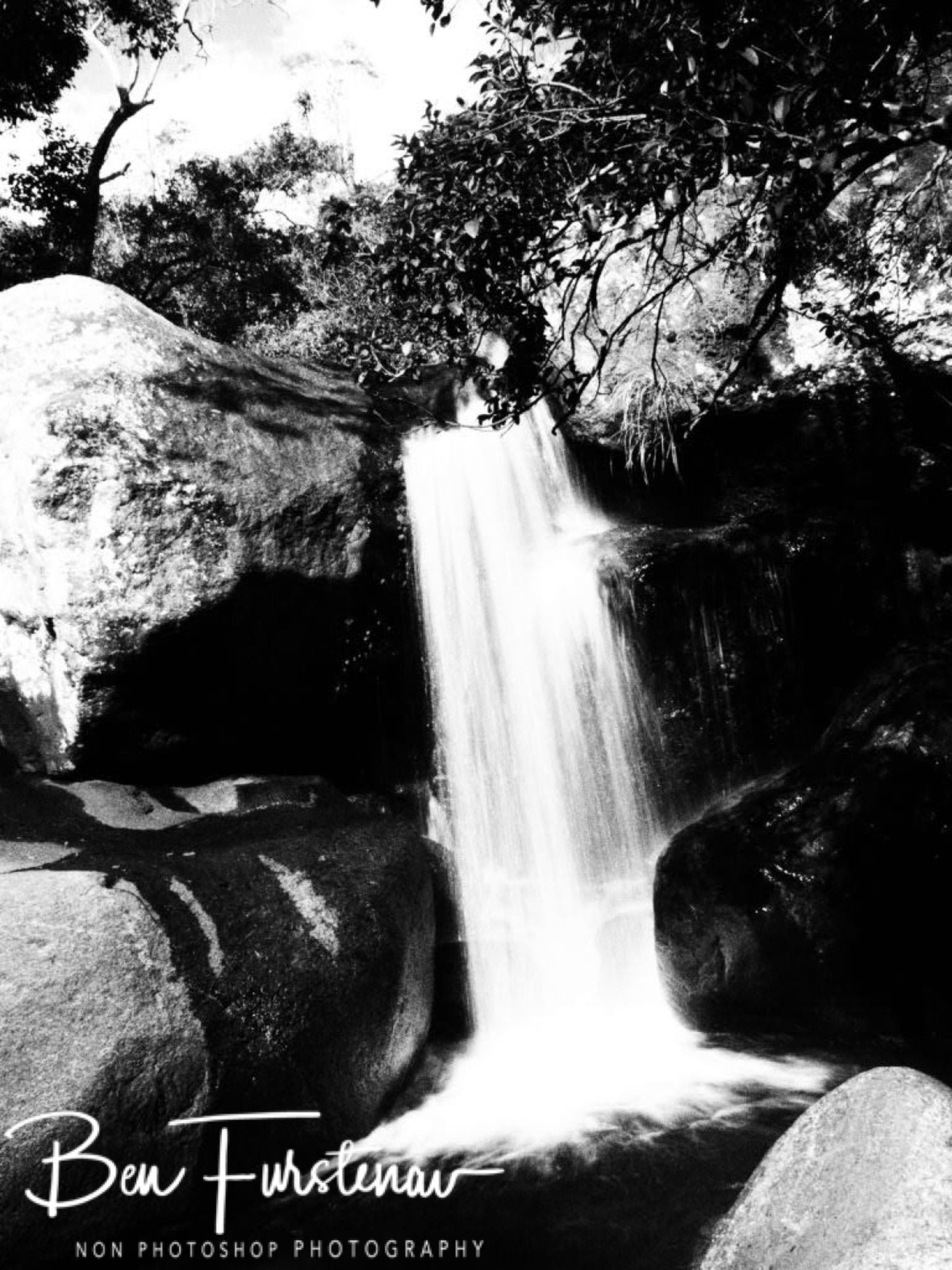 Cascading Black and White, Mulanje Mountains, Malawi