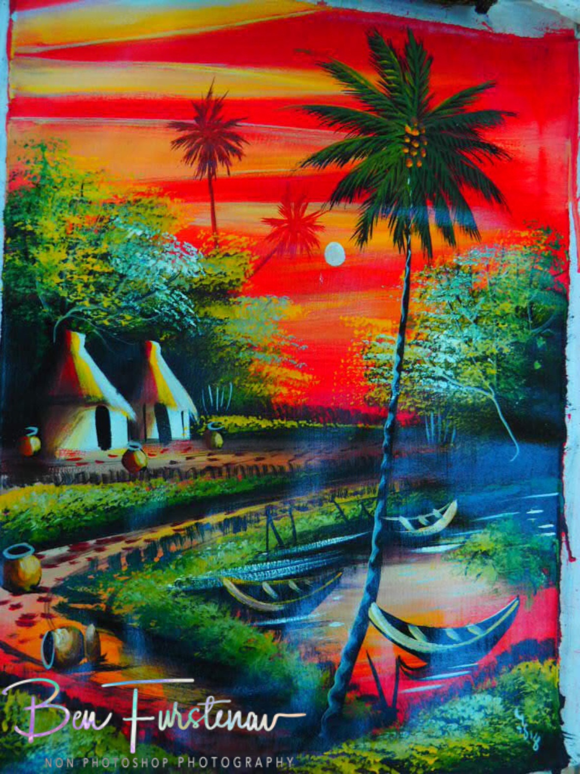 Sunrise oil painting, Vilankulo, Mozambique