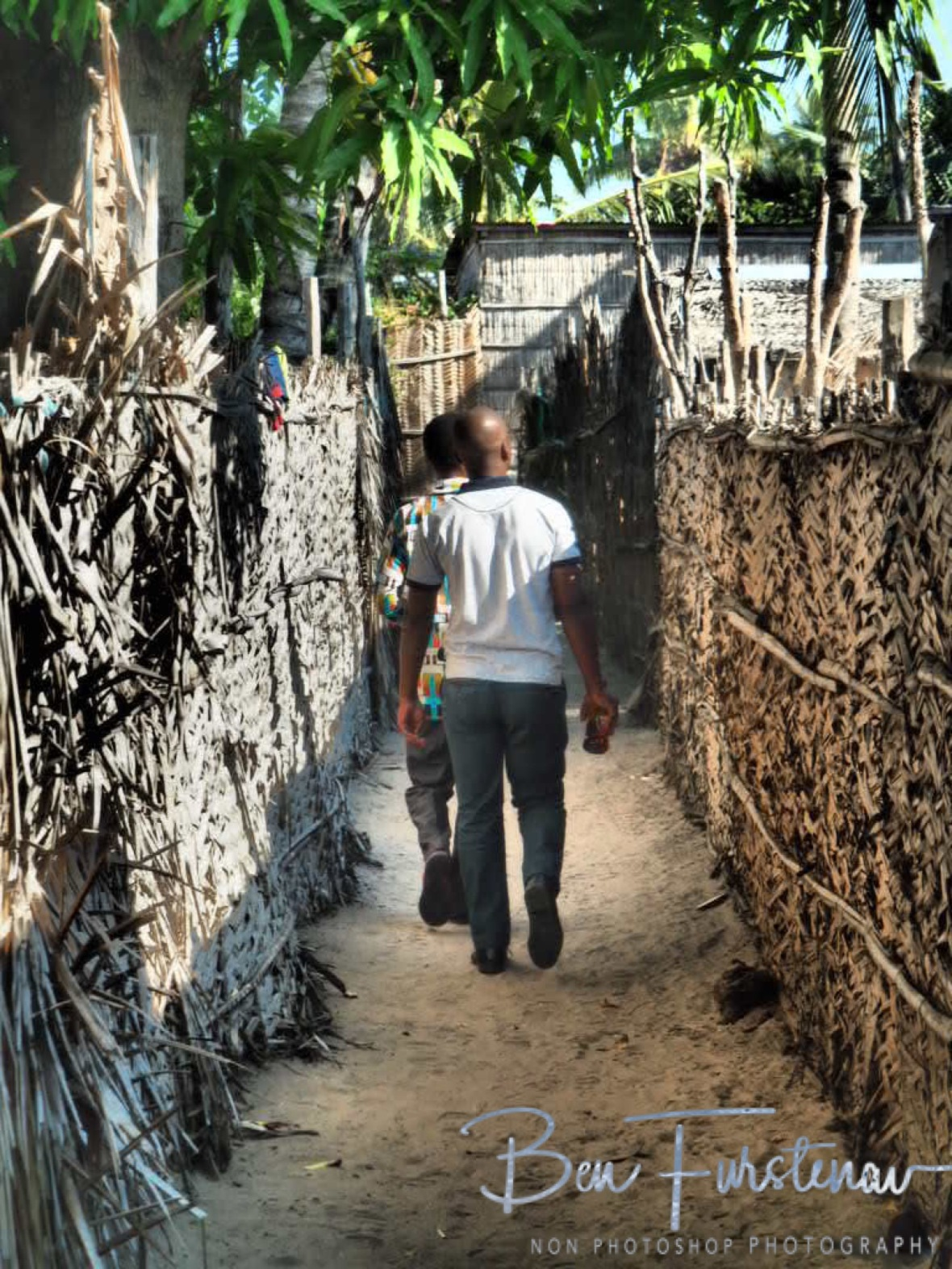 Walking the maze of Inhambane, Mozambique