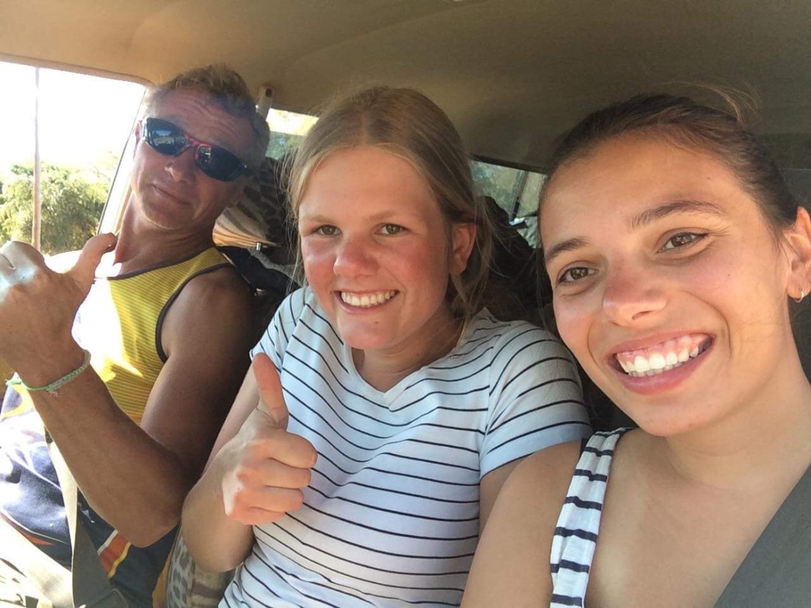 Road trip with Svenja and Finja, Inchope, Mozambique