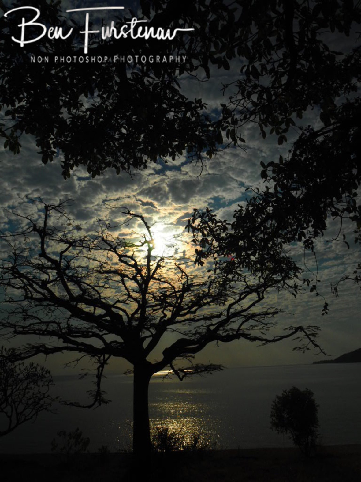 Signs for a spectacular sunset at Otter Point, Cape MaClear  Lake Malawi , Malawi