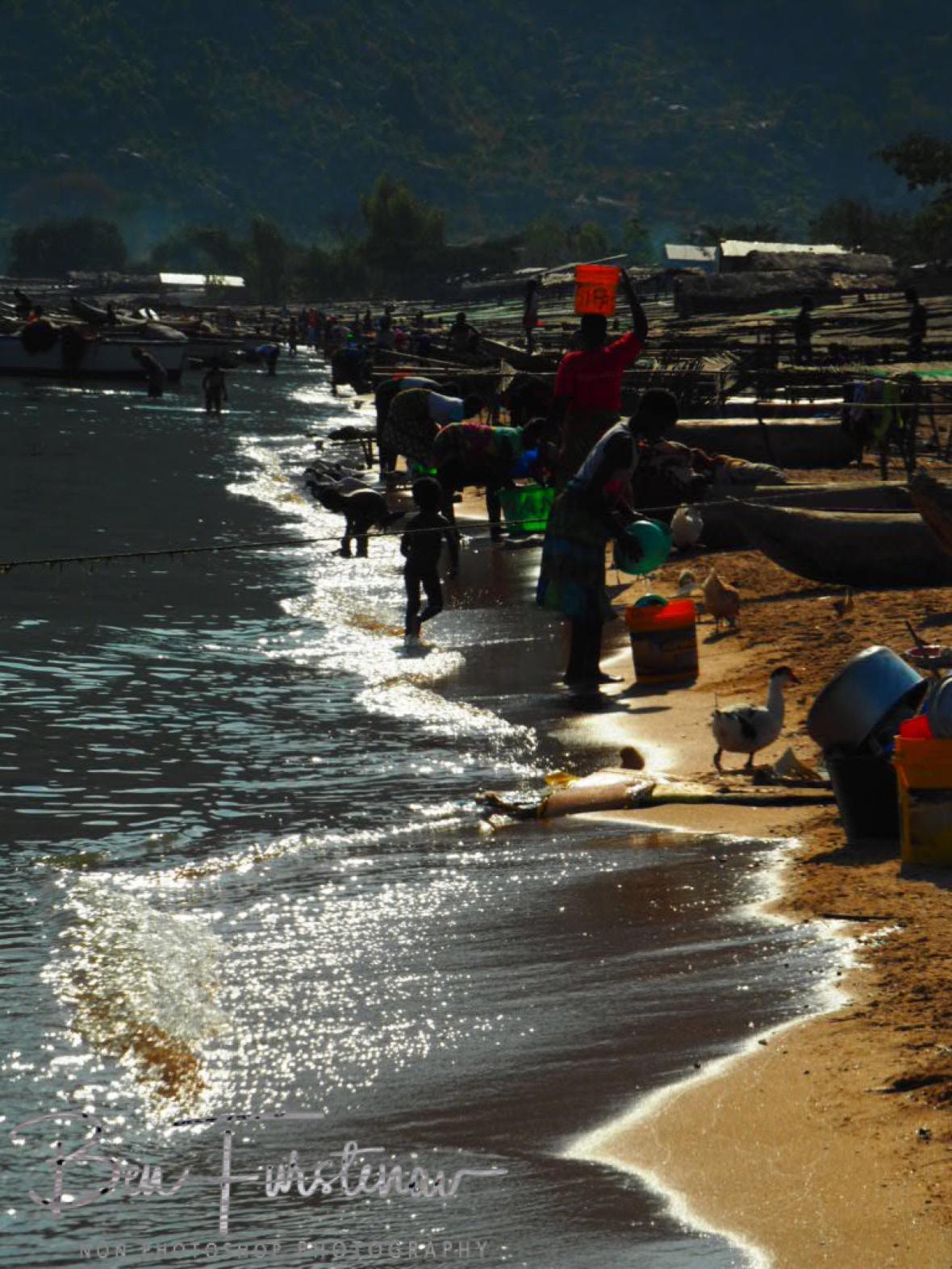 Bustling Lake Malawi, Cape Maclear, Chembe, Malawi
