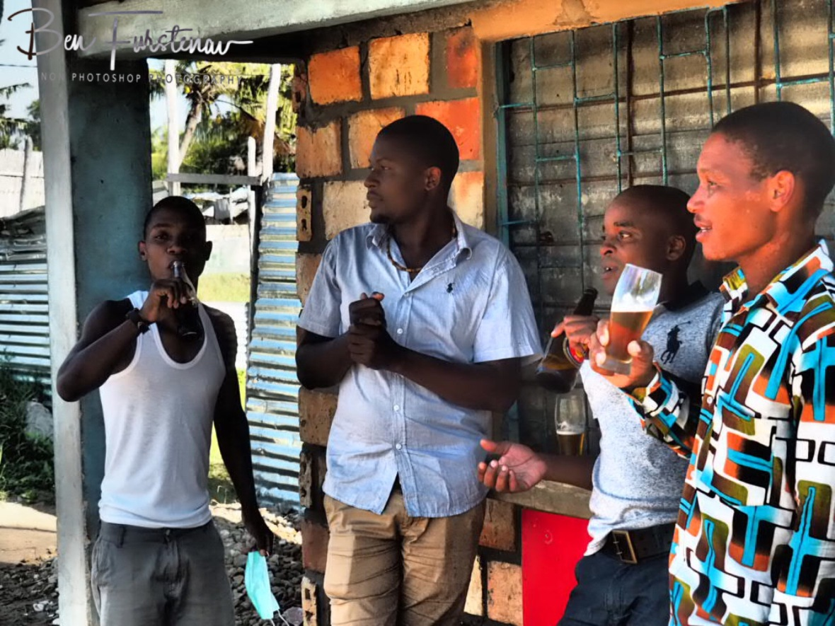 Football and beer, Inhambane, Mozambique