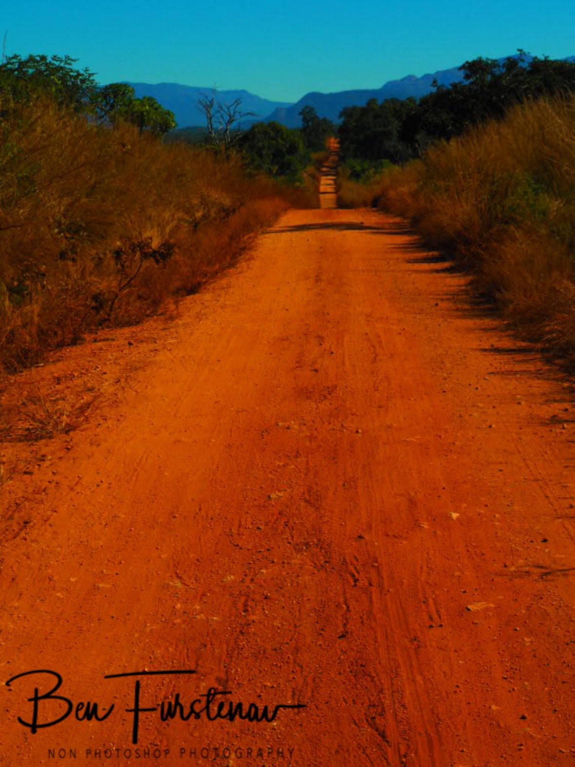Dirt track to the Chimanimani Mountains, Mozambique