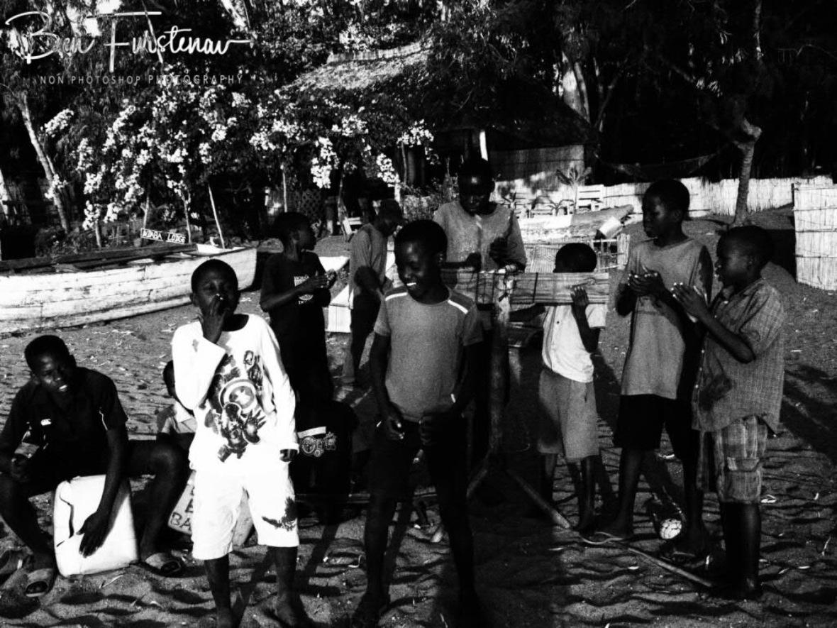 Peace Boys Band performance in Chembe, Cape Maclear, Lake Malawi, Malawi