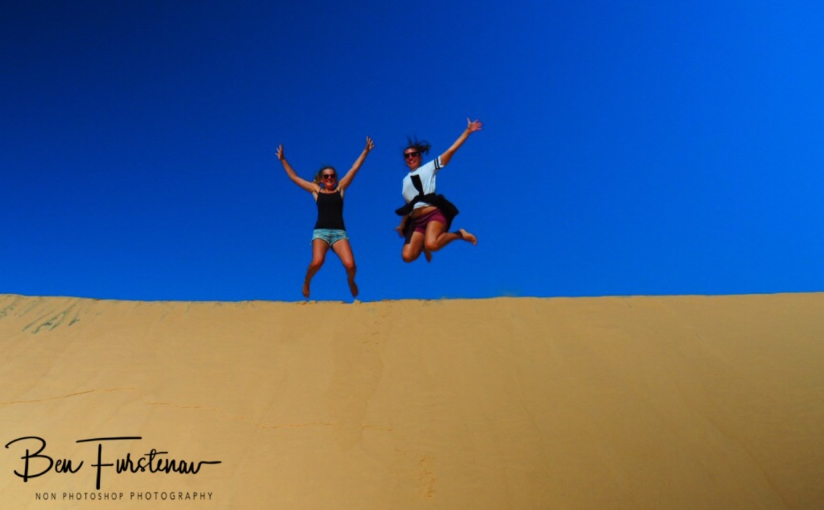 Jumping for joy, Bazaruto Island, Vilankulo