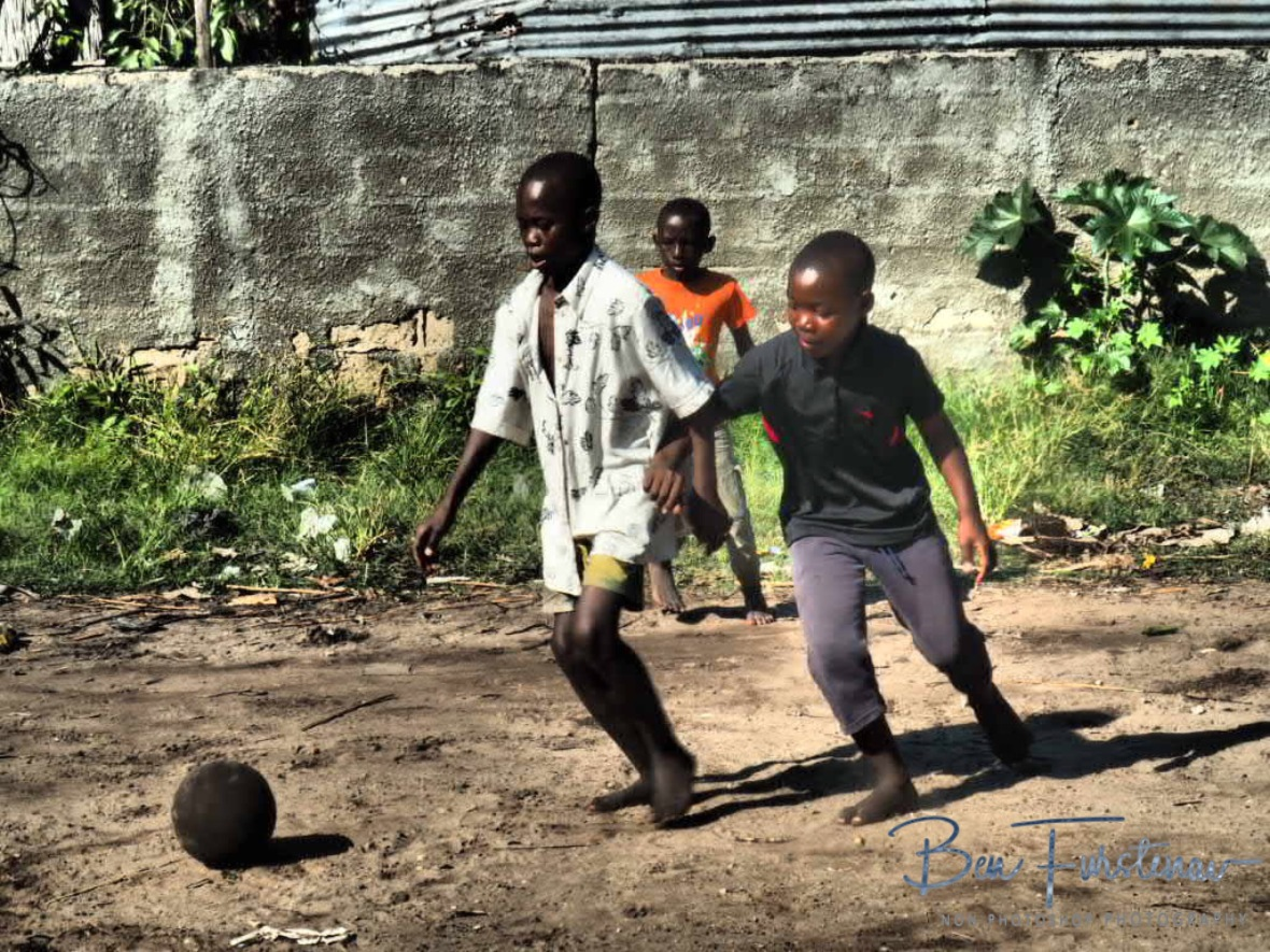 Good game of Sunday football, Inhambane, Mozambique