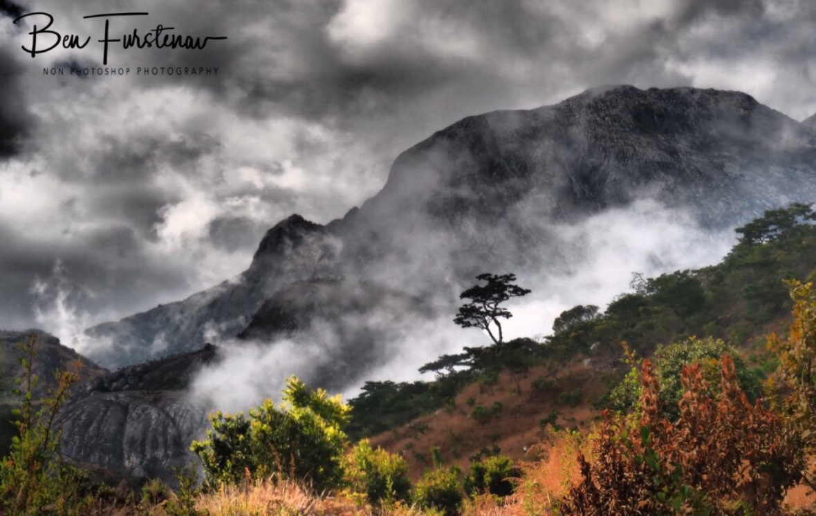 Sneaky misty low clouds, Mulanje Mountains, Malawi