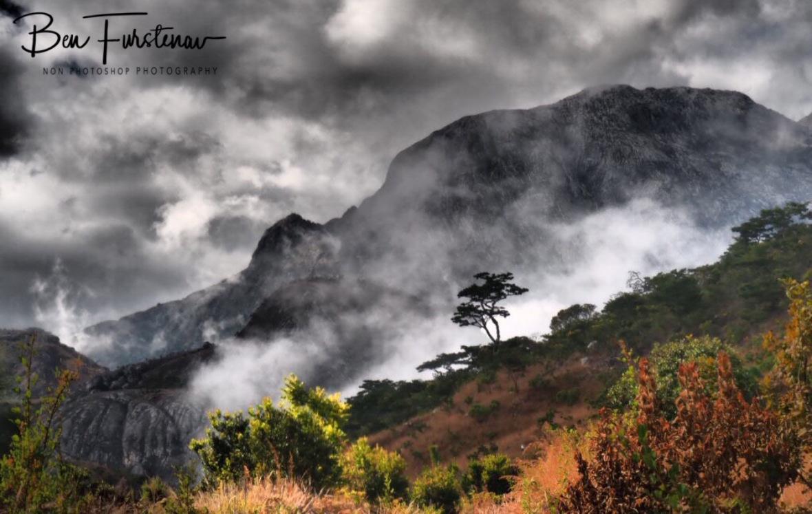 Sneaky misty low clouds, Mulanje Mountains, Malawi